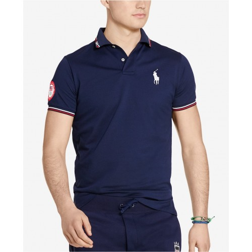 Áo Thun Nam Polo Ralph Lauren Team USA Custom-Fit Tay Ngắn
