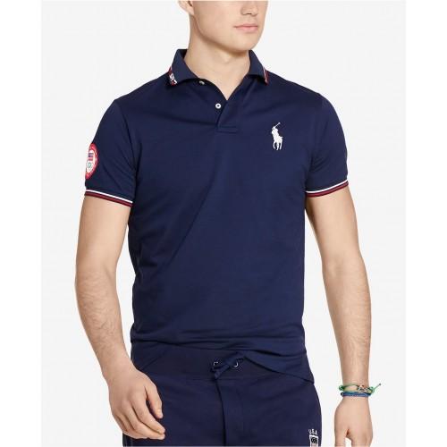 Áo Thun Nam Polo Ralph Lauren Team USA Custom-Fit Tay Ngắn