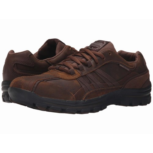 Giày Nam SKECHERS Relaxed Fit Braver - Nostic Nâu Cao Cấp