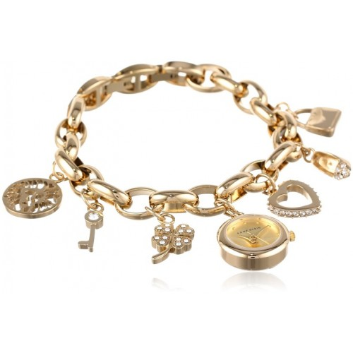 Đồng Hồ Lắc Tay AK Anne Klein Đá Swarovski Màu Gold