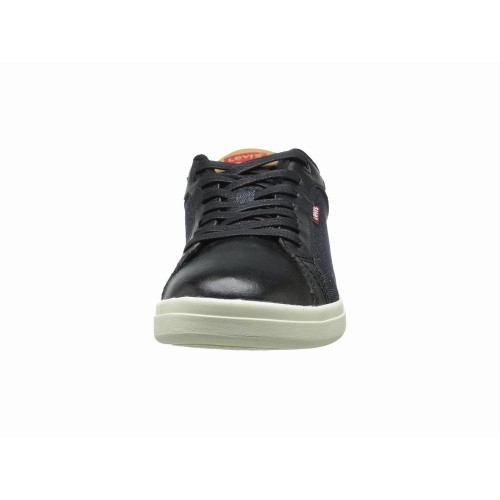 Giày Sneaker Nam Levi Westwood Denim Da Đen Thể Thao