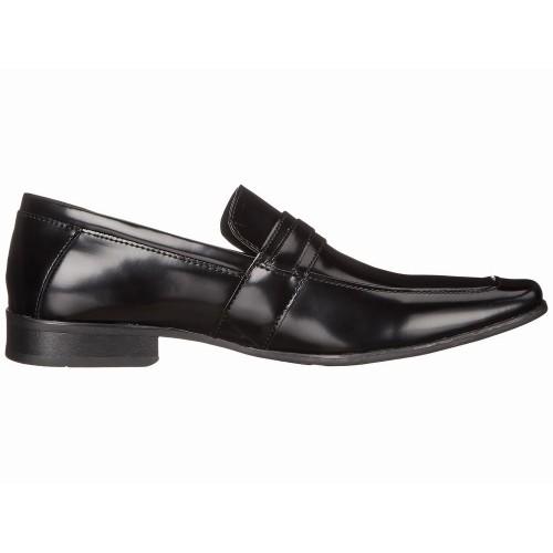 Giày Lười Calvin Klein Nam Bartley Da Đen Bóng Công Sở