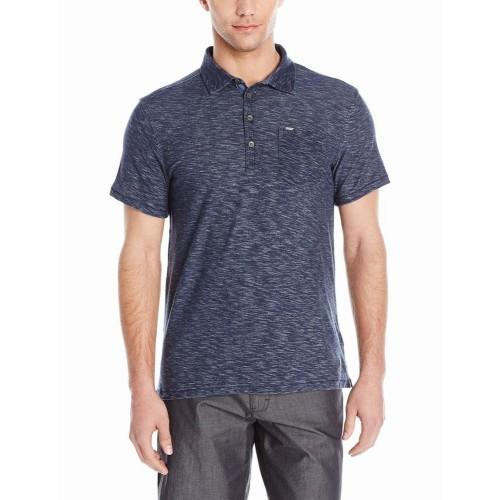 Áo Thun Polo Nam Calvin Klein Jeans Plaited Xanh Đậm Tay Ngắn