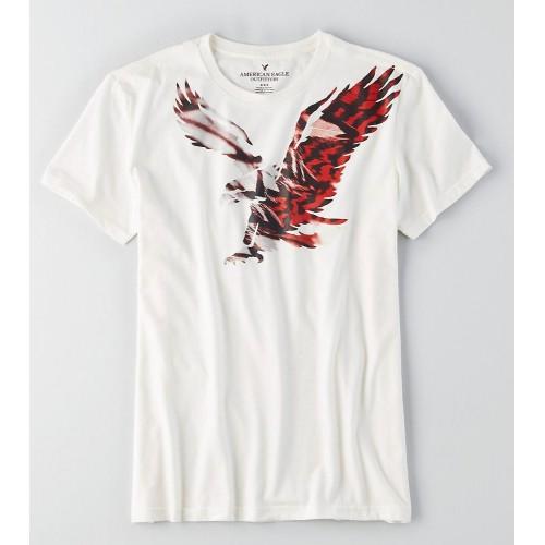 Áo Phông American Eagle Nam Trắng In Graphic Logo Lớn