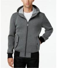 Áo Khoác Nỉ GUESS Nam Hooded Knit Xám Chính Hãng