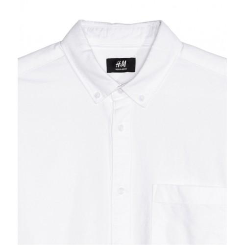 Áo Sơ Mi H&M Nam Oxford Trắng Tay Dài Hàng Hiệu