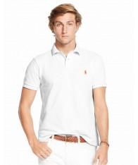 Áo Thun Polo Ralph Lauren Nam Mesh Trắng Dáng Slim