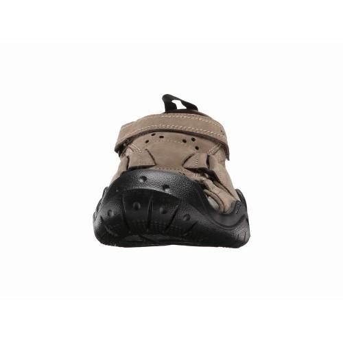 Giày Sandal Crocs Swiftwater Leather Fisherman Nâu Hàng Hiệu