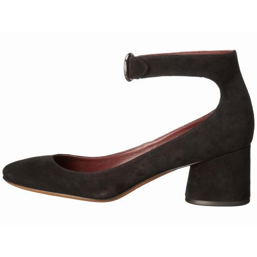 Giày Pump Marc Jacobs Kerry Ankle Strap Da Lộn Gót Thấp
