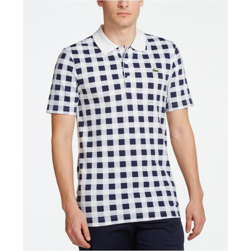 Áo Thun Lacoste Nam Square-Pattern Polo Chính Hãng