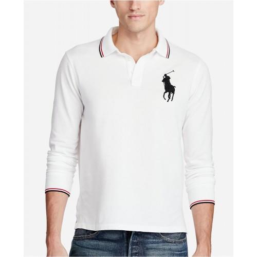 Áo Polo Tay Dài Ralph Lauren Mesh Big Pony Chính Hãng
