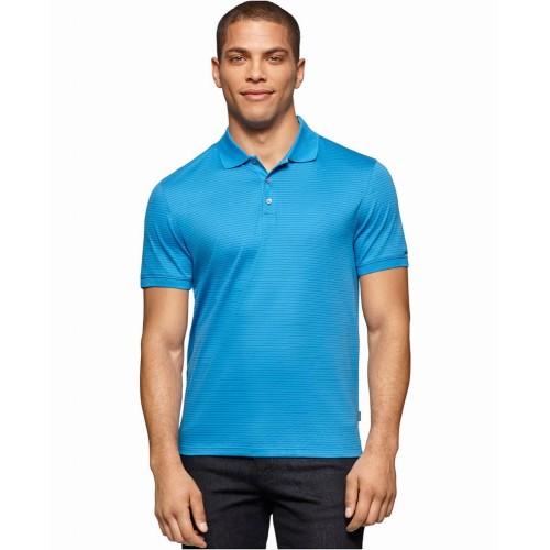 Áo Thun Nam Calvin Klein Liquid Cotton Polo Xanh Cao Cấp