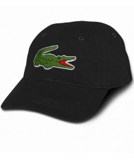 Nón Nam Lacoste Large Croc Gabardine Đen Chính Hãng