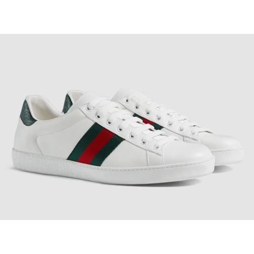 Giày Sneaker Gucci Nam Ace Leather Low-Top Chính Hãng