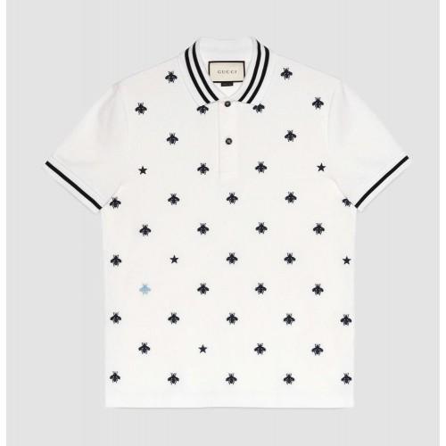 Áo Phông Nam Gucci Cotton Polo Shirt Xách Tay