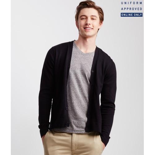 Áo Khoác Cardigan Aero Knit Uniform Đen Hàng Hiệu