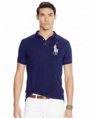 Áo Phông Ralph Lauren Slim Big Pony Polo Xanh Xách Tay