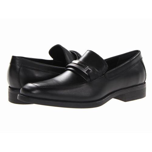 Giày Da Calvin Klein Nam Ezra Loafer Đen Chính Hãng