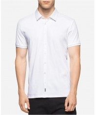 Áo Sơ Mi Calvin Klein Slim-Fit Premium Tay Ngắn Cao Cấp