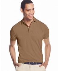 Áo Phông Tommy Hilfiger Custom-Fit Ivy Nâu Tay Ngắn