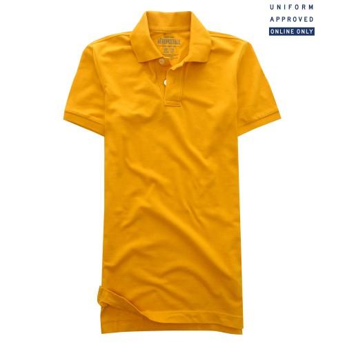 Áo Polo Nam Aero Solid Uniform Vàng Hàng Hiệu