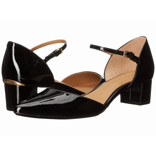 Giày Sandal Nữ Calvin Klein Georgie Gót Thấp Hàng Hiệu