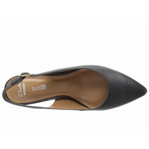 Giày Gót Thấp Clarks Riley Bít Mũi Hàng Hiệu Nhập Mỹ