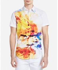 Áo Sơ Mi Nam Calvin Klein Họa Tiết Floral-Print Trẻ Trung Chính Hãng