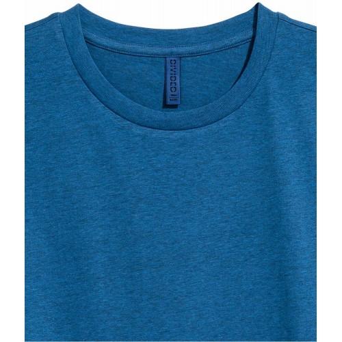 Áo Thun Nam HM cổ tròn màu xanh tay ngắn chính hãng