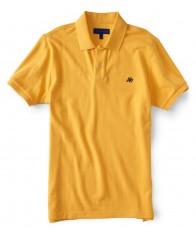 Áo Thun Nam Aero A87 Solid Logo Piqué Vàng Hàng Hiệu