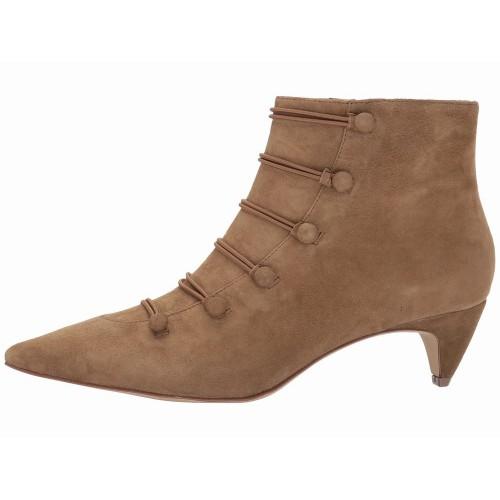 Giày Gót Vừa Nữ Nine West Chất Da Lộn Zadan Thanh Lịch