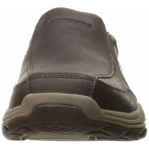Giày Lười Nam Skechers Nâu Đậm Brencen Hàng Nhập Mỹ