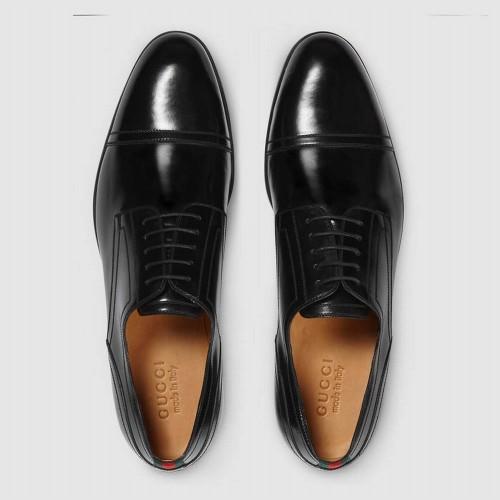 Giày Tây Gucci Viền Họa Tiết Đẹp Trẻ Trung Chính Hãng