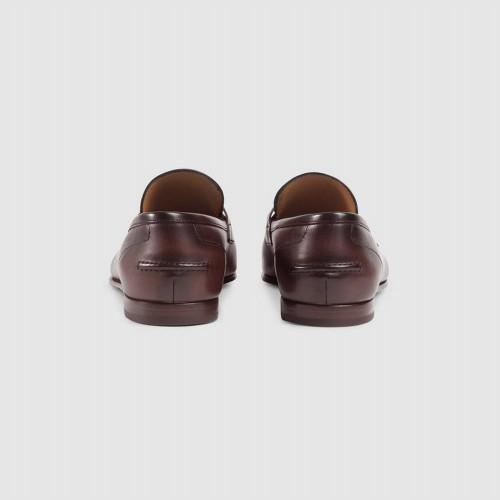Giày Lười Gucci Nam Chất Da Jordaan Họa Tiết Đơn Giản