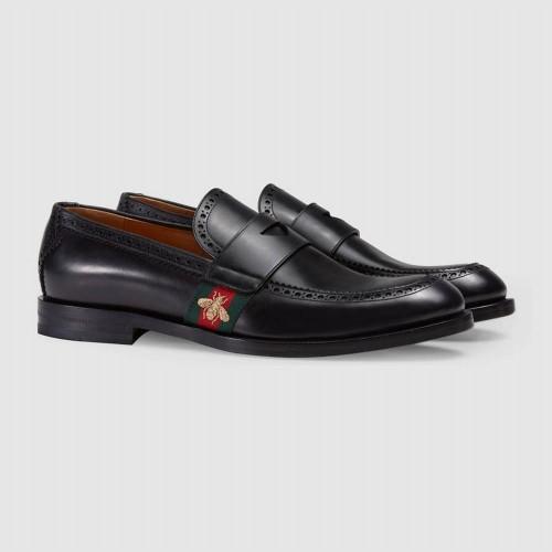 Giày Lười Gucci Web Họa Tiết Thêu Ong Bên Giày Đẹp