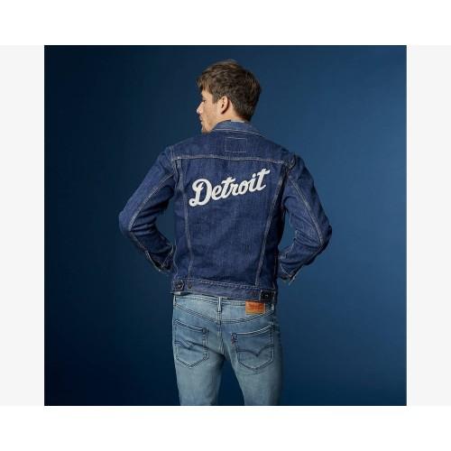 Áo Khoác Jeans Nam Levis MLB Xanh Đậm Trẻ Trung