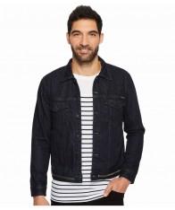 Áo Khoác Jeans Nam Calvin Klein Màu Tối Cổ Bẻ Hàng Nhập