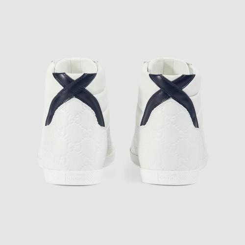 Giày Sneaker Cao Cổ Gucci Họa Tiết Logo Trẻ Trung