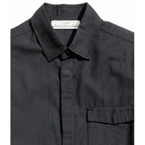 Áo Sơ Mi Nam H&M Herringbone Màu Đen Sọc Dọc Hàng Nhập