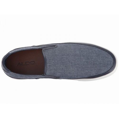 Giày Lười Nam Aldo Chất Vải Và Da Krasnoff Xanh Navy