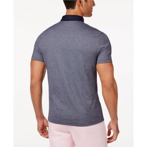 Áo Thun Polo Tommy Hilfiger Dáng Custom Màu Xám Họa Tiết