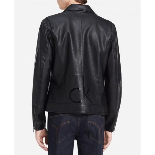 Áo Khoác Nam Giả Da Calvin Klein Jeans Màu Đen Trẻ Trung