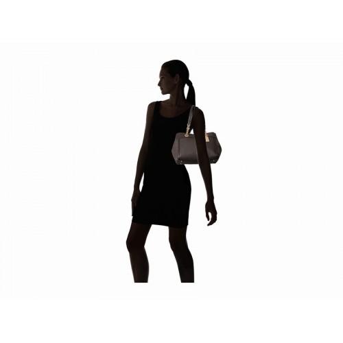 Túi Xách Nữ COACH Chất Da Phối Turnlock Màu Nâu