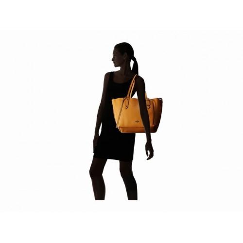Túi Tote Nữ COACH Da Nâu Vàng Wiplash Lớn Chính Hãng