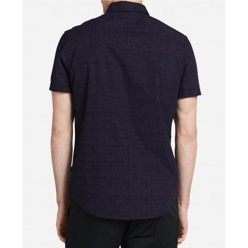 Áo Sơ Mi Calvin Klein Nam Họa Tiết Kẻ Hatch Dáng Classic