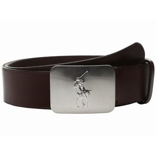 Thắt Lưng Polo Ralph Lauren Mặt Bảng Vacchetta Dập Logo Ngựa
