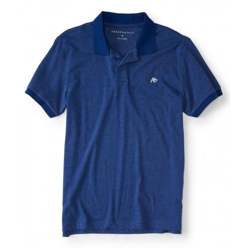 Áo Thun Nam Polo Hàng Hiệu Aero Xanh Blue Đẹp