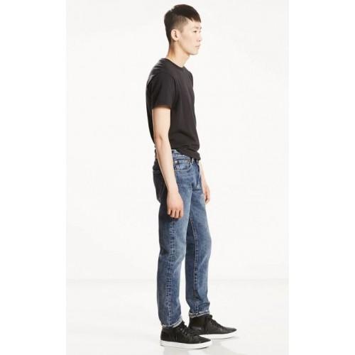 Quần Jeans Levi 501 Nam Xanh Đen Wash Nhẹ Chính Hãng