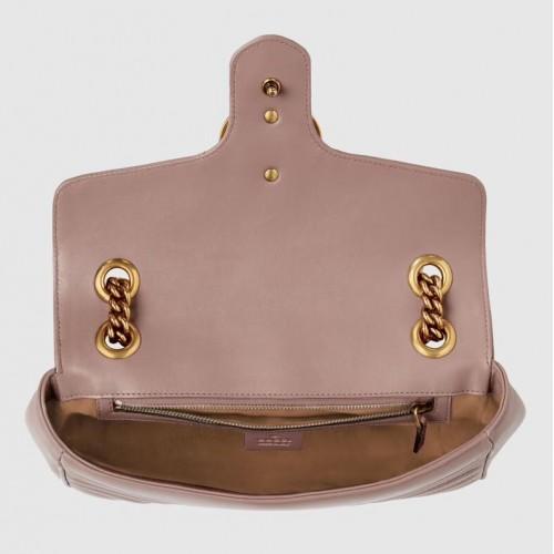 Túi Nữ Gucci Đeo Vai Marmont Với Logo GG Chất Da Mềm