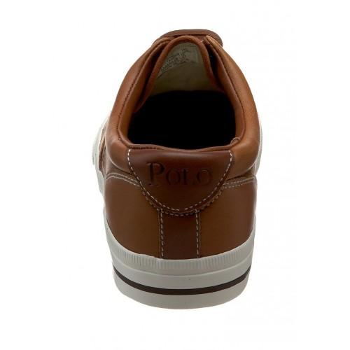 Giày Nam Polo Ralph Lauren Thể Thao Da Nâu